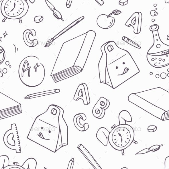 Back To School Doodle Objects