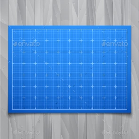 Square Grid on Wood Background