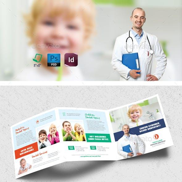 Kids Dental Square Brochure Templates
