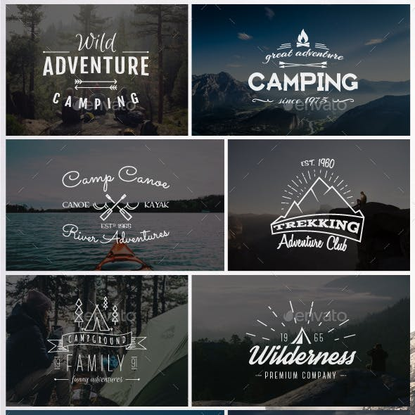 Outdoor Vintage Badges & Logos Set