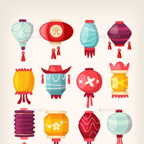 Chinese Paper Hanging Lanterns