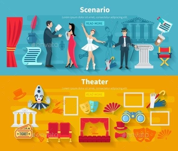 Theater Banner Set - Miscellaneous Vectors
