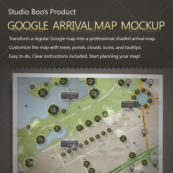 Google Arrival Map Mock-up