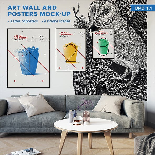 Art Wall and Poster Mock-up