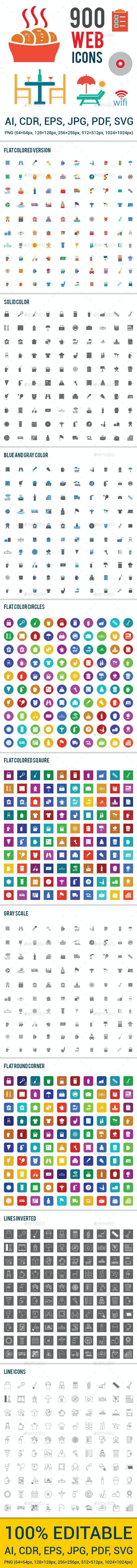900 Web Icons - Web Icons