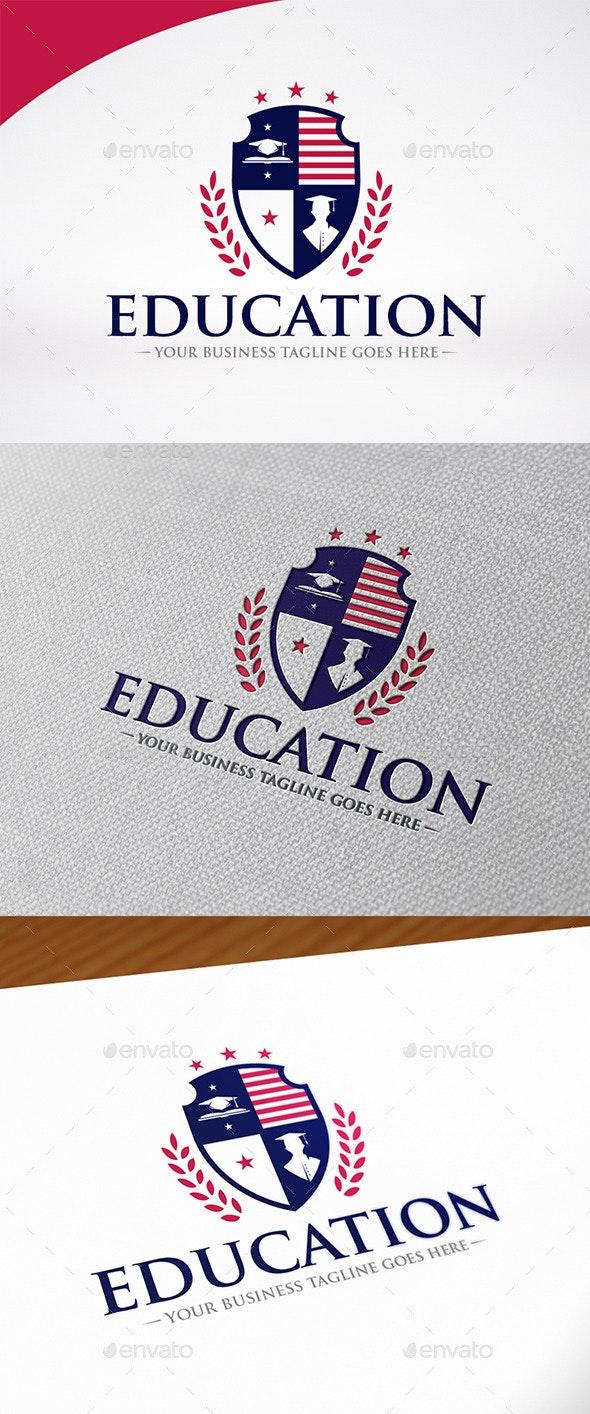 Education Shield Logo Template - Crests Logo Templates