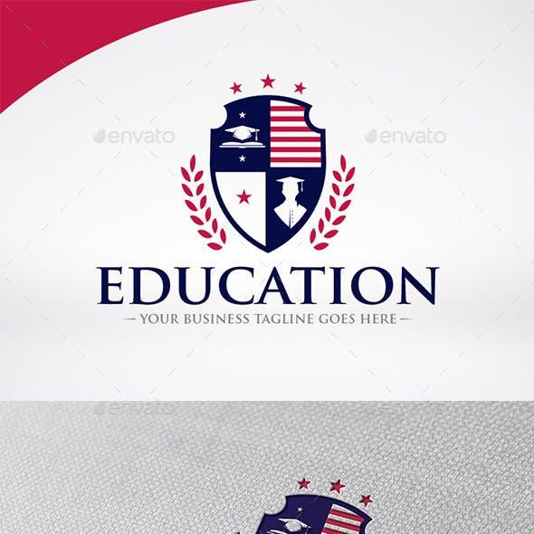 Education Shield Logo Template