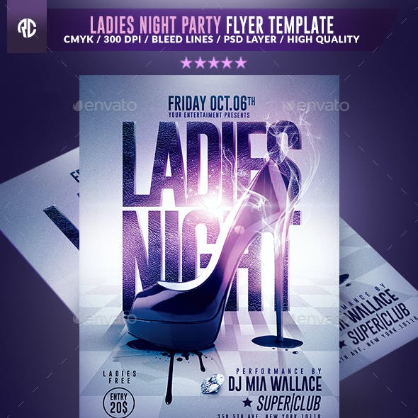 Ladies Night Party | Psd Flyer Template