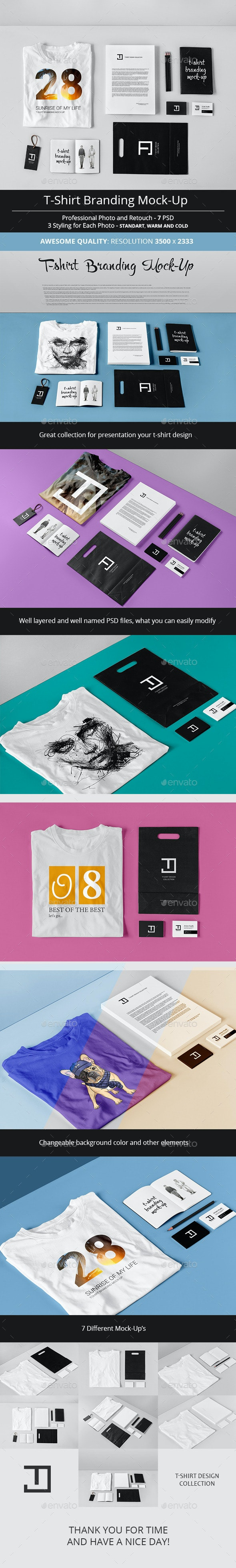 T-Shirt Branding Mock-Up - T-shirts Apparel