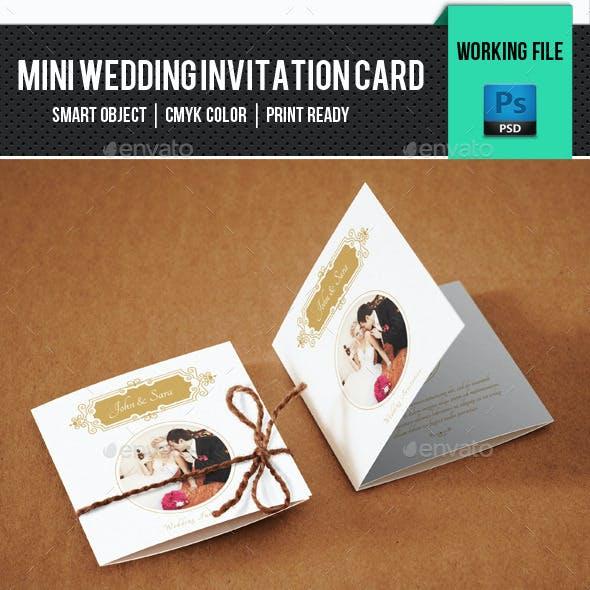 Wedding Mini Invitation Card-V01