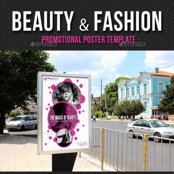 Beauty and Fashion Poster Template V01