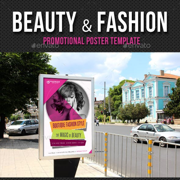 Beauty and Fashion Poster Template V02