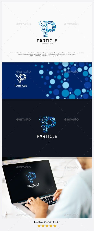 60d63bec5b68d Particle Media - Letter P Logo