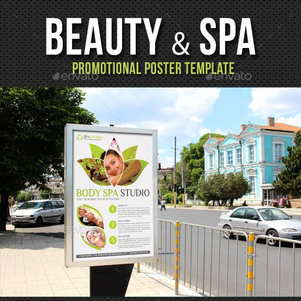 Beauty and Spa Poster Template V02