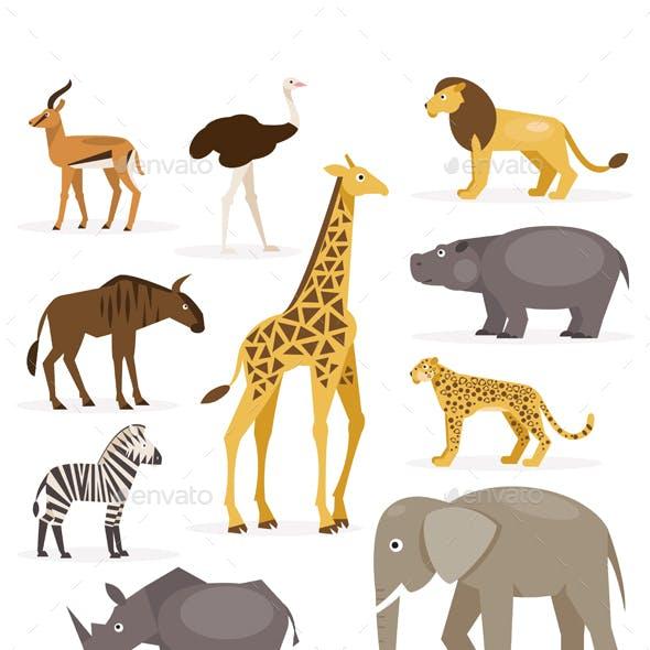Set Savanna Animals