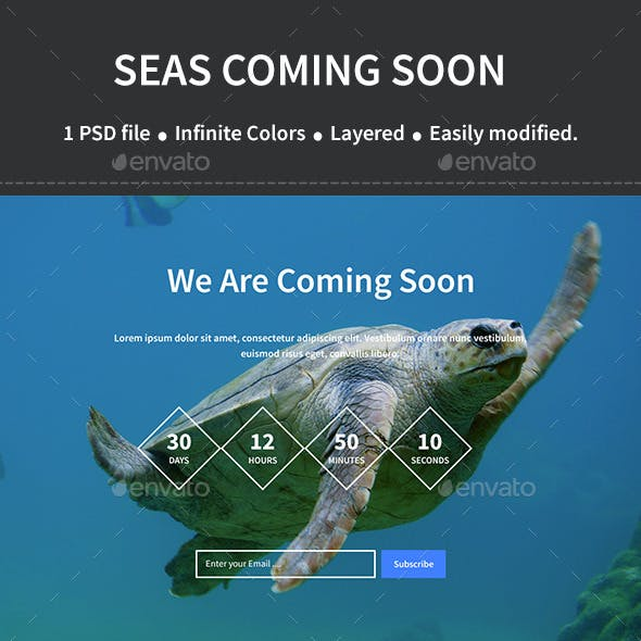 Seas Coming Soon Page Template