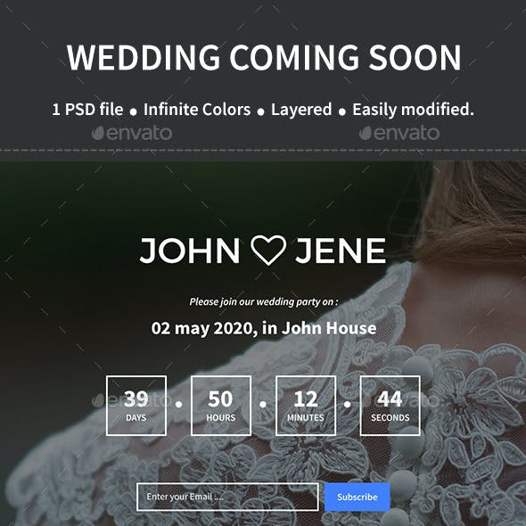 Wedding Coming Soon Page