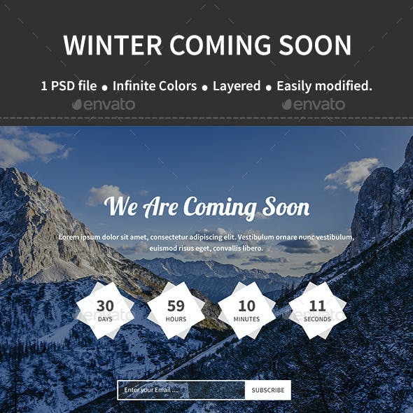 Winter Coming Soon Page Template