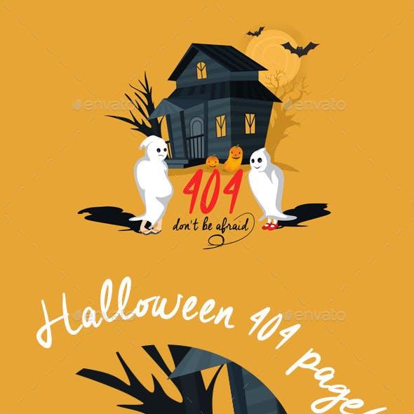 404 Error Halloween Page