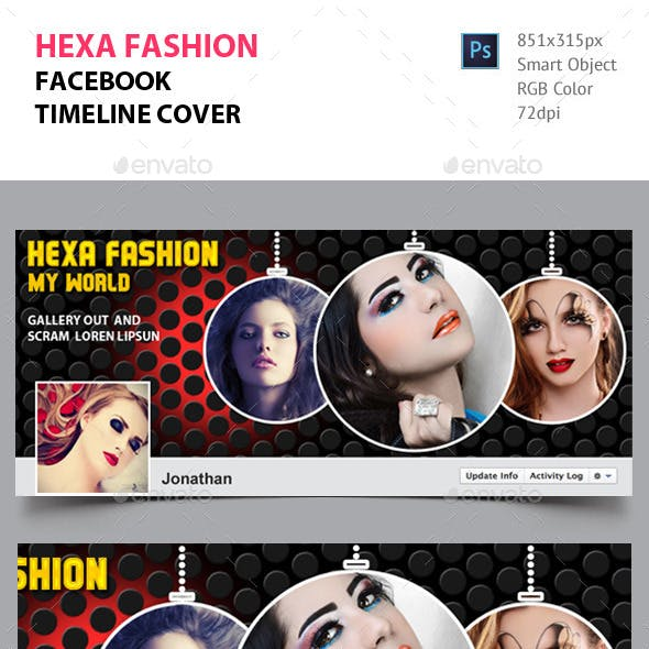 Hexa Fashion Facebook Timeline Cover