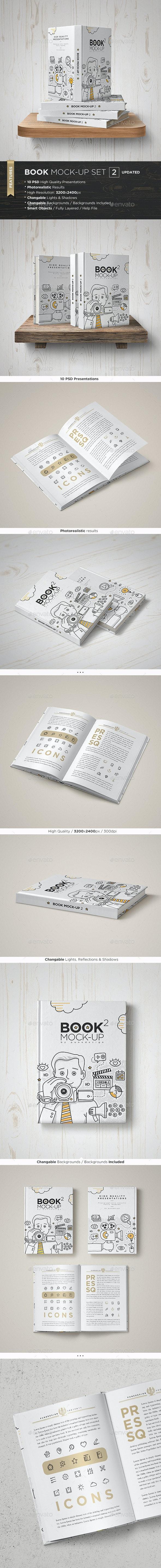 Book Mock-Up Set - 2 - Books Print