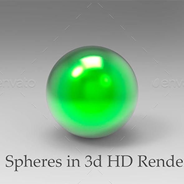 Spheres in 3D HD Renders