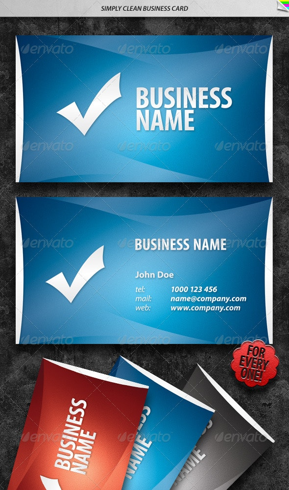 Simply Clean Business Card - Creative Business Cards