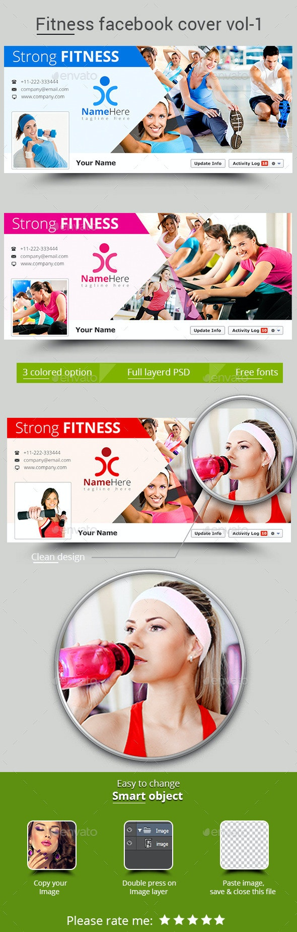Fitness Facebook Cover Vol- 1