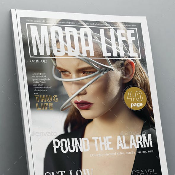 Moda Life Magazine Template 40 Pages