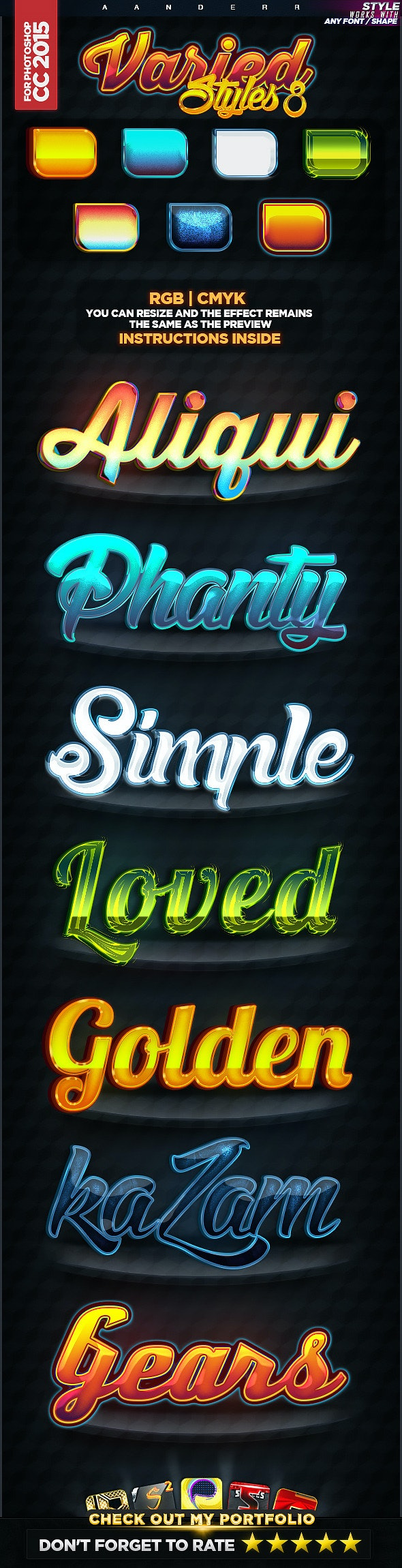 Varied Styles 8 - Text Effects Styles