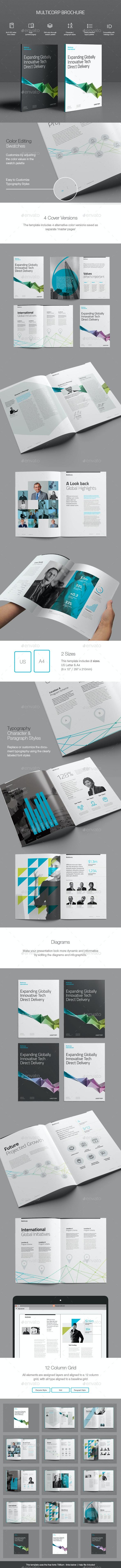 Multicorp Brochure Template - Corporate Brochures