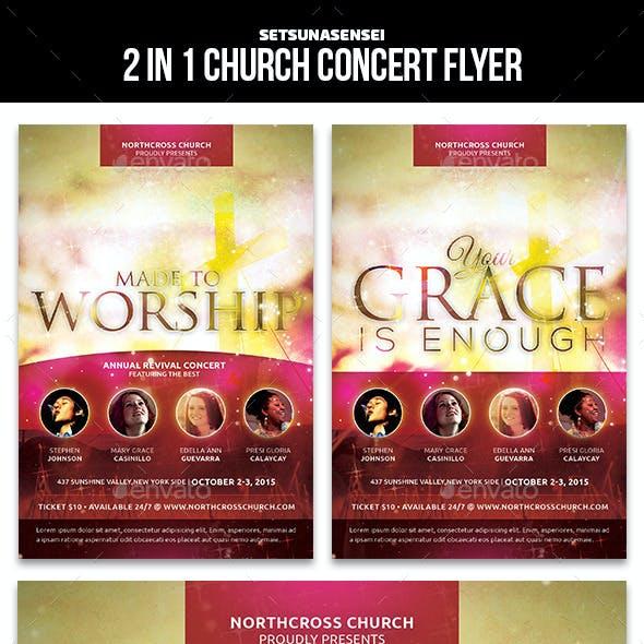 2 in 1 Church Concert Flyer