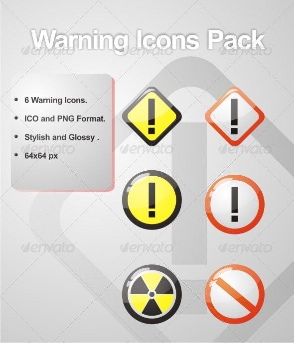 Warning Icons Pack - Web Icons