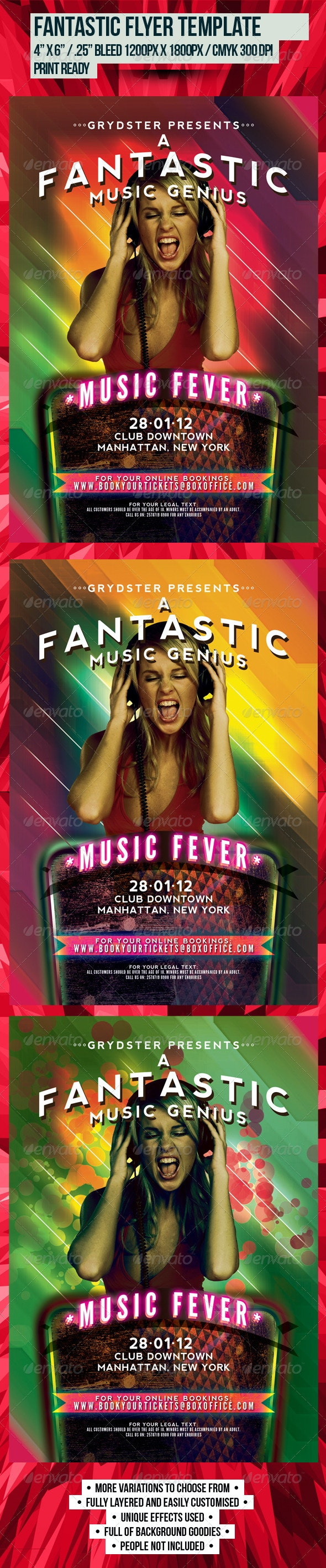 Fantastic Flyer Template - Clubs & Parties Events