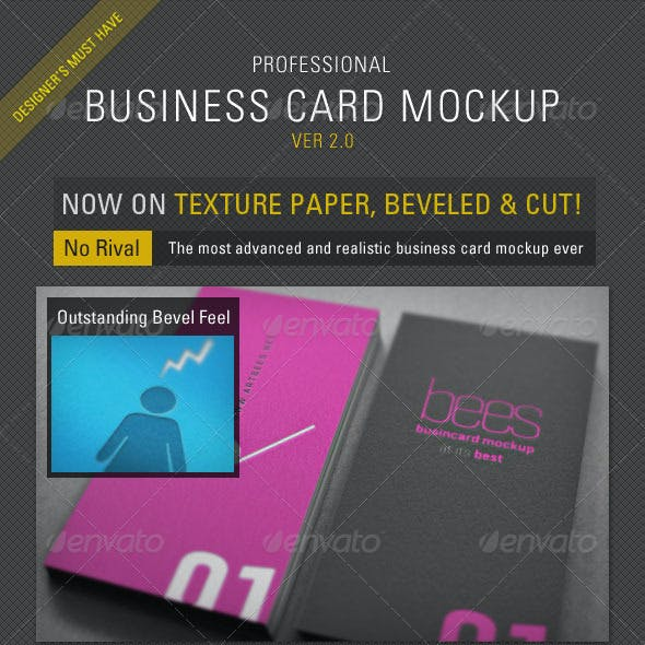 Business Card Mockup Pro - ver 2.0