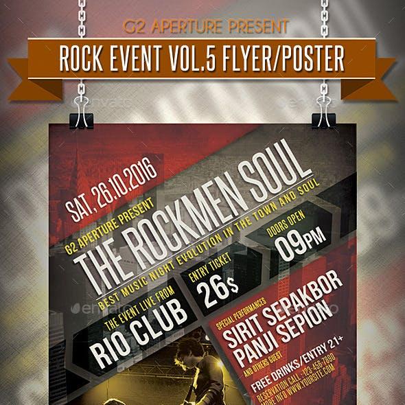 Rock Event Flyer / Poster Vol.5
