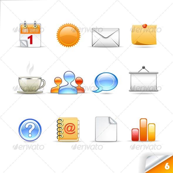 icon set n°6  - office theme - infinity series