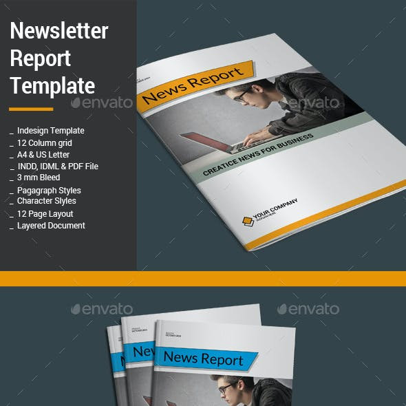 Newsletter Report Template