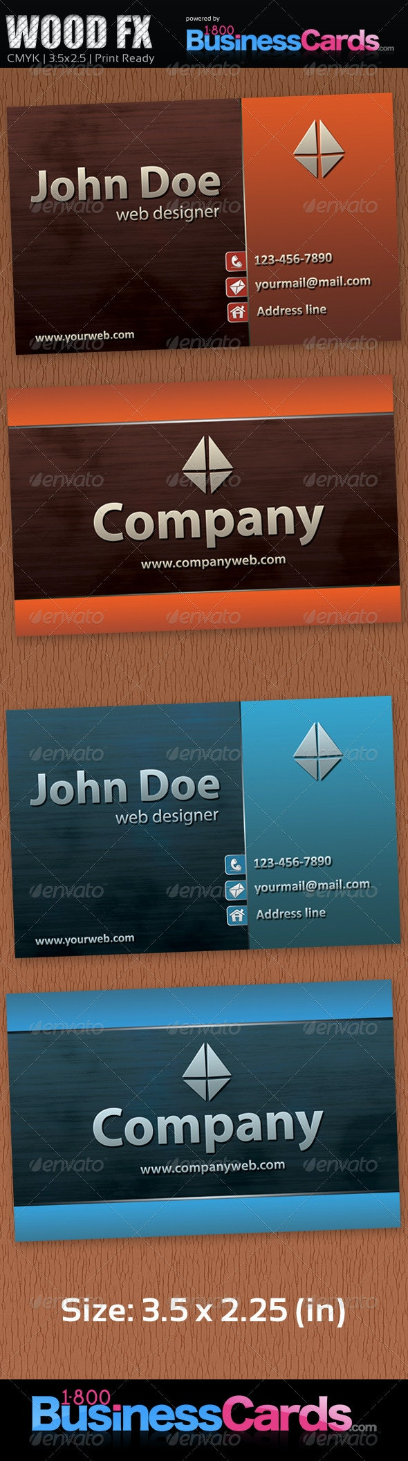 Wood Fx Business Card - Creative Business Cards