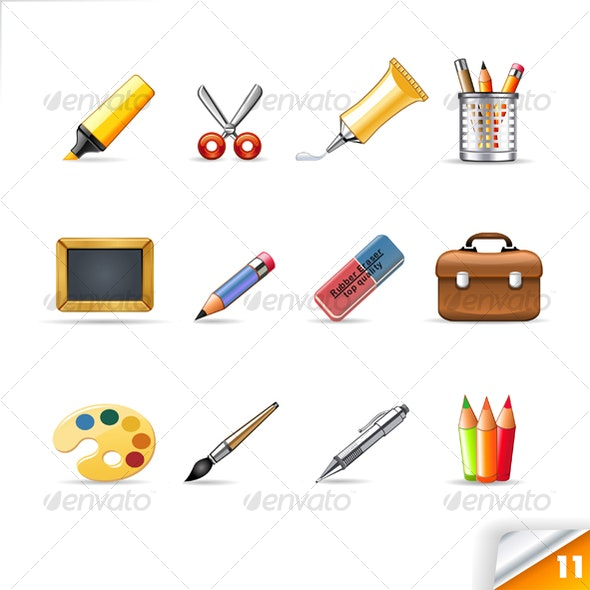 icon set n°11  - supplies theme - infinity series - Objects Icons