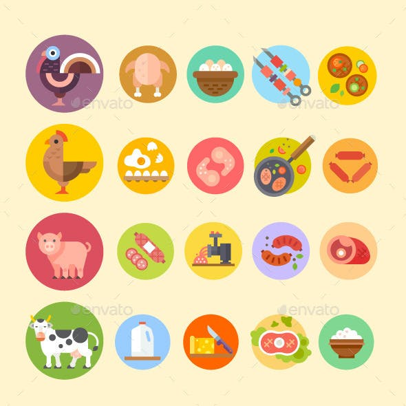 Farm Animals and Products Made Out of Them