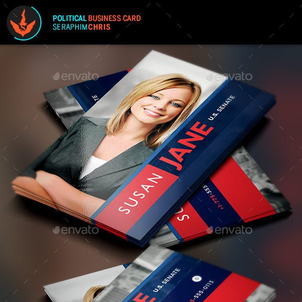 Jane Political Business Card Template 2