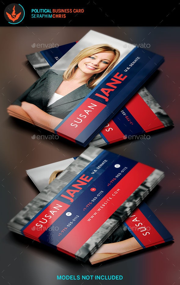 Jane Political Business Card Template 2 - Corporate Business Cards