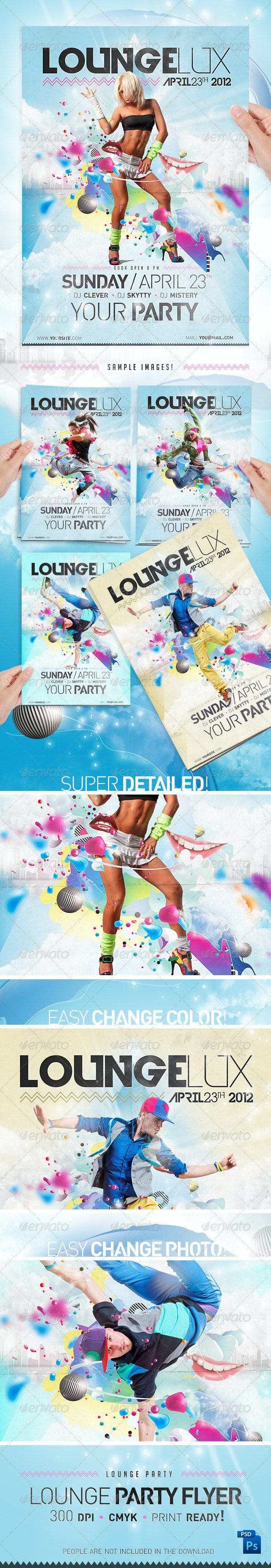 Lounge Party Flyer Template - Clubs & Parties Events
