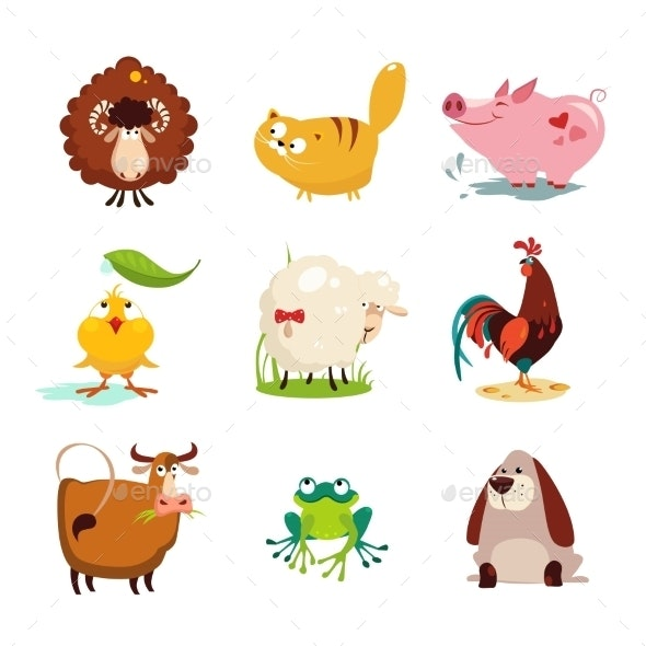Farm Animal and Bird Collection Set - Animals Characters