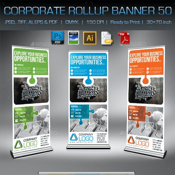 Corporate Business Rollup Banner 50