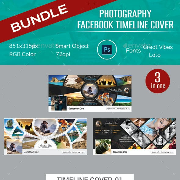 Photography Facebook Timeline Cover Bundle