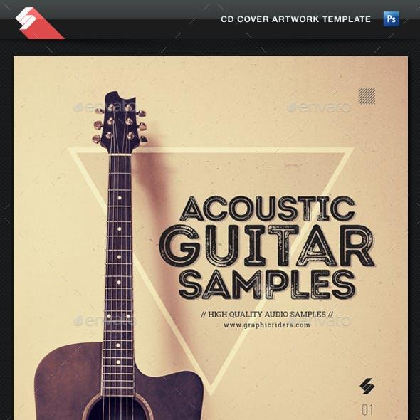 Acoustic Guitar Samples - CD Cover Template