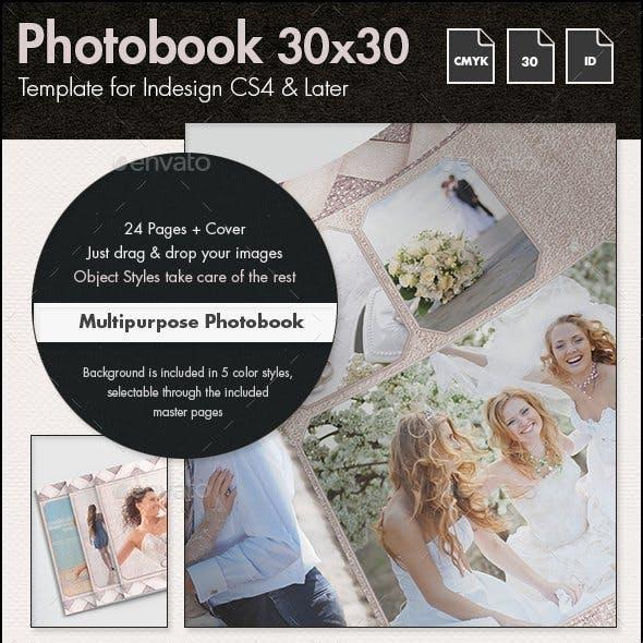 Multipurpose Photobook Album Template - 30x30cm