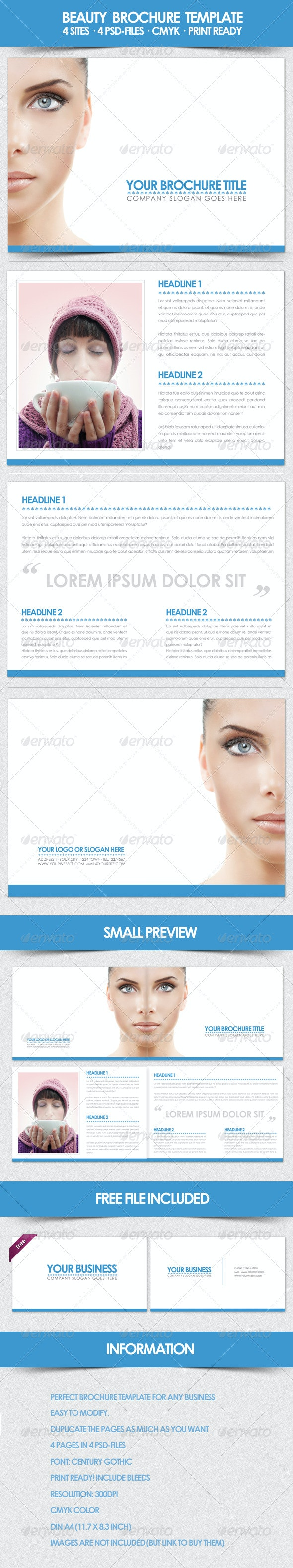 Beauty Brochure Template - Corporate Brochures